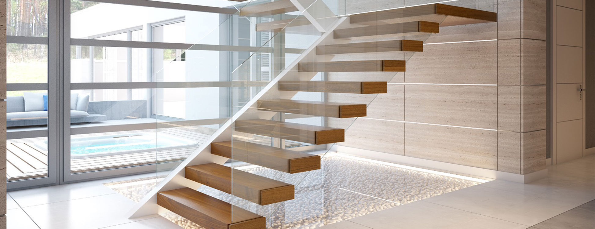 консольная лестница на фото